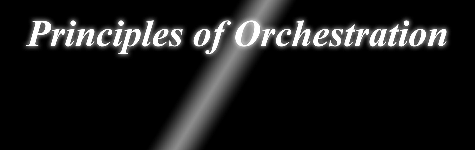Logo; Principles of Orchestra